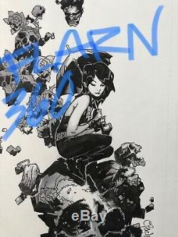 11x17 Original Art CHRIS BACHALO Death SKETCH sandman xmen psylocke venom Batman