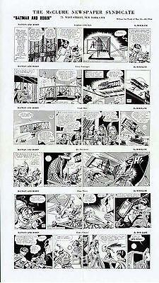 1944 Batman Joker Original Newspaper Comic Production Art Proof Rare Large Page