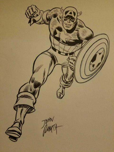 1975 John Romita, Original Ink Drawing On Paper, Signed-no. Res Auction