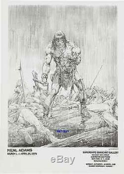 1975 Neal Adams Art Conan The Barbarian Original Vintage Print Marvel Comic Hero