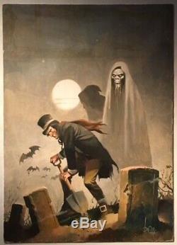 1975 Original Cover Artwork Brea Rodriguez Eerie Creepy Frank Frazetta Pulp Art