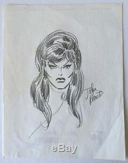 1975 Original Pencil Sketch of Black Widow by John Romita Senior