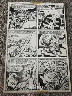1976 Jack Kirby Captain America Annual 3 Page 37 Original Comic Art