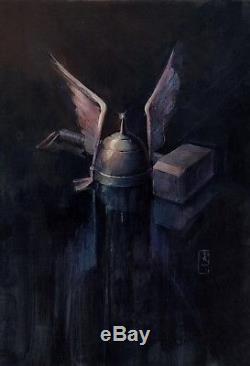 1983, Bill Sienkiewicz, Thor's Hammer (mjolnir) & Helmet For Unpublished Thor