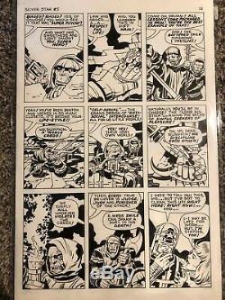 1983 Jack Kirby SILVER STAR 5 PAGE 12 Original Comic Art