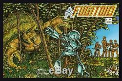 1985 Fugitoid #1 Original Eastman & Laird Cover Comic Art TMNT Ninja Turtles