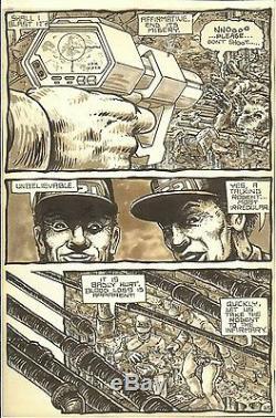 1985 Issue 3, Page 35 Teenage Mutant Ninja Turtles Original Comic Art TMNT
