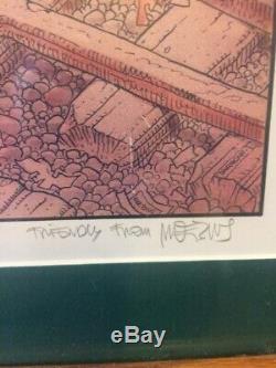 1985 MOEBIUS JEAN GIRAUD, City of Fire- PORTFOLIO SIGNED PRINT