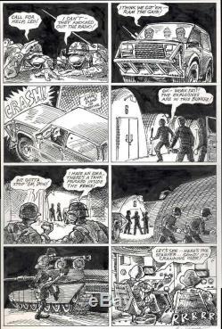 1987 Teenage Mutant Ninja Turtles Turtle Soup #1 Original Art Page Classic Tmnt