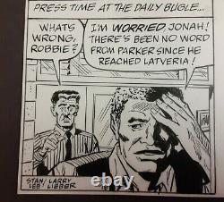 1991 Stan Lee Amazing Spiderman Original Newspaper Comic Art Daily Strip