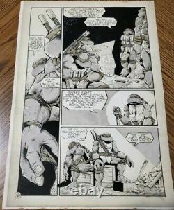 1993 Original Comic Art Teenage Mutant Ninja Turtles 58 Peter Laird Signed TMNT