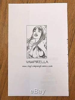 2006 Harris VAMPIRELLA #12 Rare Variant Cover Eric EBAS Basladua ORIGINAL ART