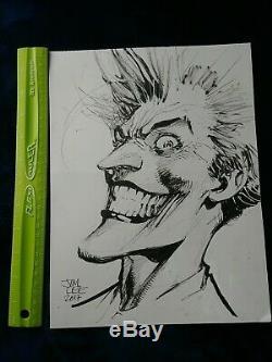 2017 Jim Lee Original Joker Sketch