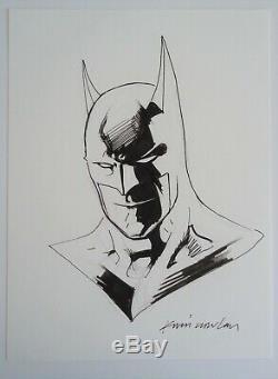 2017 Kevin Nowlan Signed Batman Sketch DC Comics Pencil & Ink
