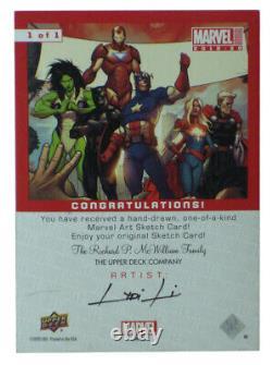 2019-20 Upper Deck Marvel Annual Wolverine Sketch Card Lydi Li Original Art 1/1