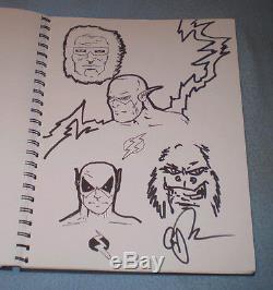 46 Original DC Comic Convention Sketches in book, Jimenez, Perez, Connor, Wagner