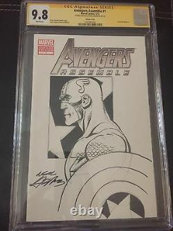 9.8 CGC SS Avengers Assemble #1 Original Art Sketch Cover & Signed Neal Adams