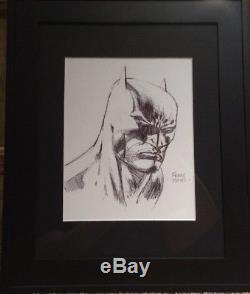 9x12 David Finch Batman Original Art Sketch Commission from 2010 Dark Knight
