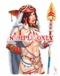 9x12 FULL-COLOR HIGH-DETAIL ORIGINAL ART COMMISSION Artist Lance HaunRogue