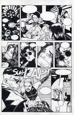 ADAM HUGHES ORIGINAL COMIC ART PENTHOUSE COMIX PAGE (Great Condition See Scan)
