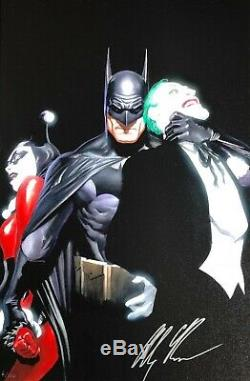 ALEX ROSS new MIND IF I CUT IN Mini Canvas SIGNED Batman Harley Joker COA