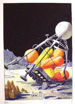 Alex Schomburg Science-fiction Tight Prelim Cover Art
