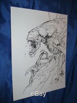 ALIENS Original Art Page by Dave Dorman (Alien/Predator/AVP/Movie)