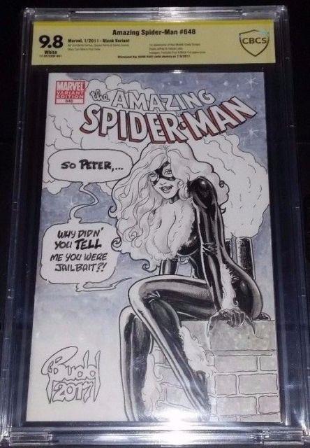 Amazing Spider-man #648 Cbcs 9.8 Original Art Sketch Black Cat Budd Root Cgc