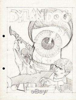 ANGELO STANO Tavola originale Dylan Dog bozzetto copertina n. 54 Delirium
