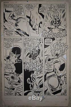 AVENGERS ANNUAL #1 pg 38 Original Art THOR Hawkeye DON HECK George Roussos 1967
