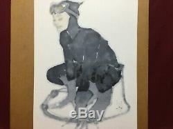 Adam Hughes Original Art Catwoman Pinup Sketch