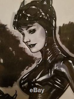 Adam Hughes Original Art. Catwoman commision, drawing, sketch