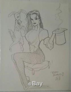 Adam Hughes original art Commission sketch-drawing, Zatanna
