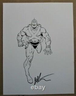 Adam Strange original comic book art Jim Starlin
