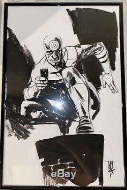 Alex Maleev Bullseye Original Art Daredevil Marvel Awesome 11x17 Bendis