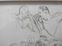 Alex Ross Original Art Sketch Superman Captain America SIGNED