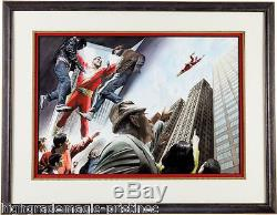 Alex Ross, Shazam Original Painting DC Comics 2000 Two Page Spread, Exceptional