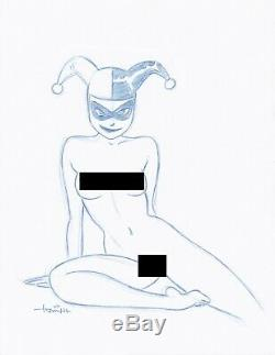 All 5 Harley Quinn NUDE Convention Sketches by Animator Art Drawing