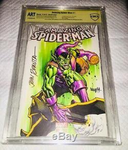 Amazing Spider-Man 1 CBCS 9.8 SS O/A ORIGINAL ART GREEN GOBLIN JOHN ROMITA SR