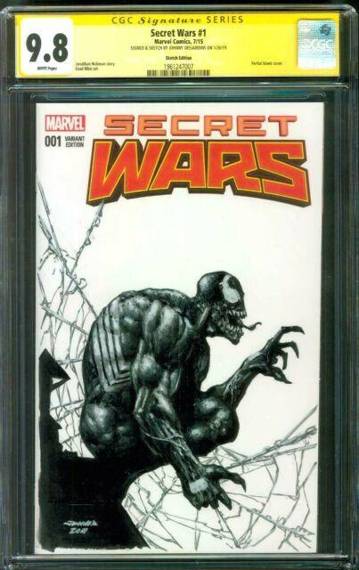 Amazing Spider Man 1 Cgc 9.8 Ss Johnny D Original Art Venom Sketch Variant
