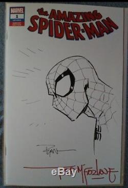 Amazing Spider-Man #1 Ryan Ottley & Todd Mcfarlane SIGN & SKETCH original art