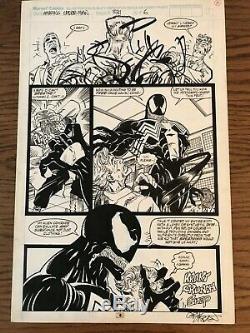 Amazing Spider-Man #331 pg. 6 Original Comic Art Erik Larsen Venom Murder Page