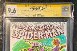 Amazing Spider-man 1 Cgc Ss 9.6 Green Goblin Sketch Sal Buscema Color Rubinstein