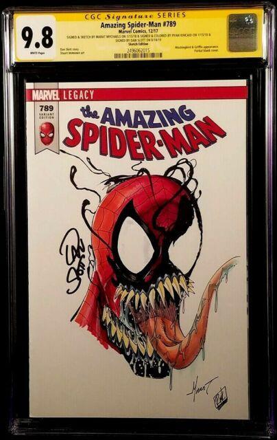 Amazing Spider-man 789 Cgc Ss 9.8 X3 Original Art Sketch Venom Carnage Mary Jane
