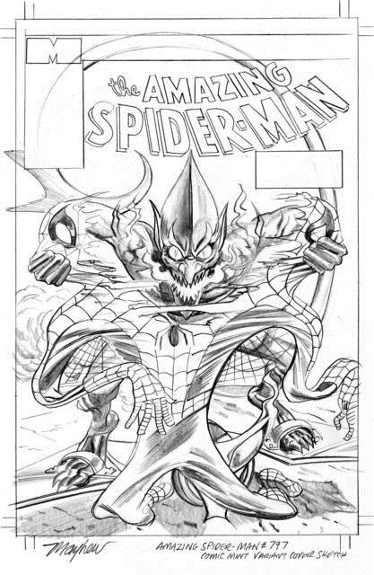 Amazing Spider-man #797 Mayhew Variant Original Sketch Art Red Goblin Only One