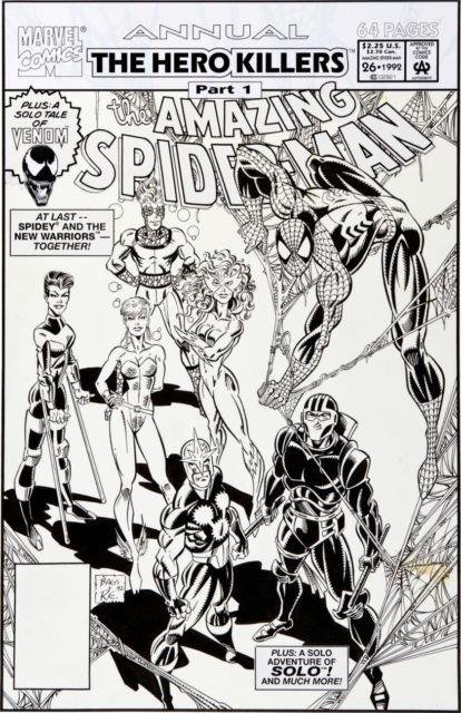 Amazing Spider-man Annual 26 Cover Art Bagley