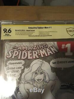 Amazing Spiderman #1 Cbcs 9.6 Risque Sketch Original Art Black Cat Budd Root Cgc