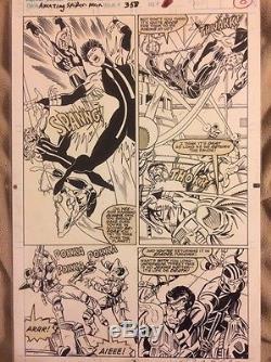 Amazing Spiderman 358 Original Art Mark Bagley Punisher Moon Knight Nova