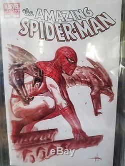 Amazing Spiderman CBCS Dell'Otto Authentic Original ART Comic Sketch Cover