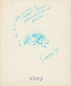 André FRANQUIN dessin original Gaston Lagaffe Beaux Arts Nancy